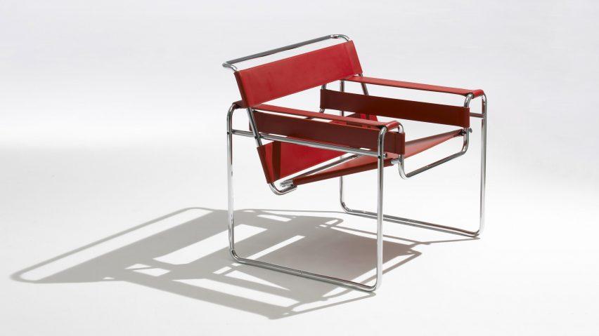 chaise bauhaus rouge marcel breueur modele b3