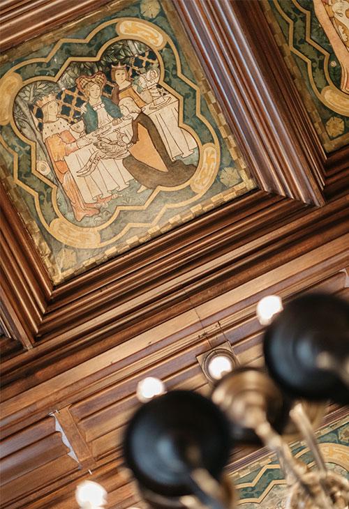 plafond de la période d'art classique