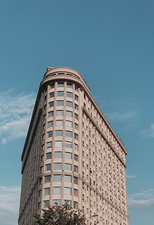Immeuble typique du mouvement art moderne aux usa