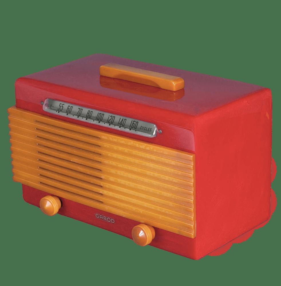streamline design paquebot radio en bakelite