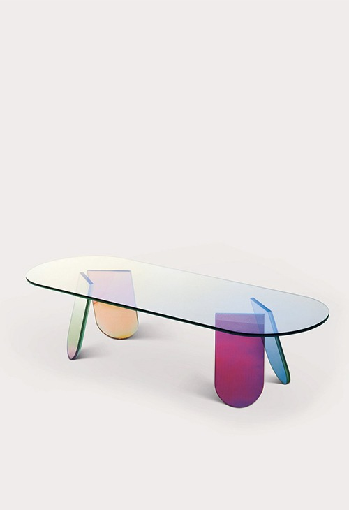 Table basse contemporaine shimmer par Patricia Arquiola