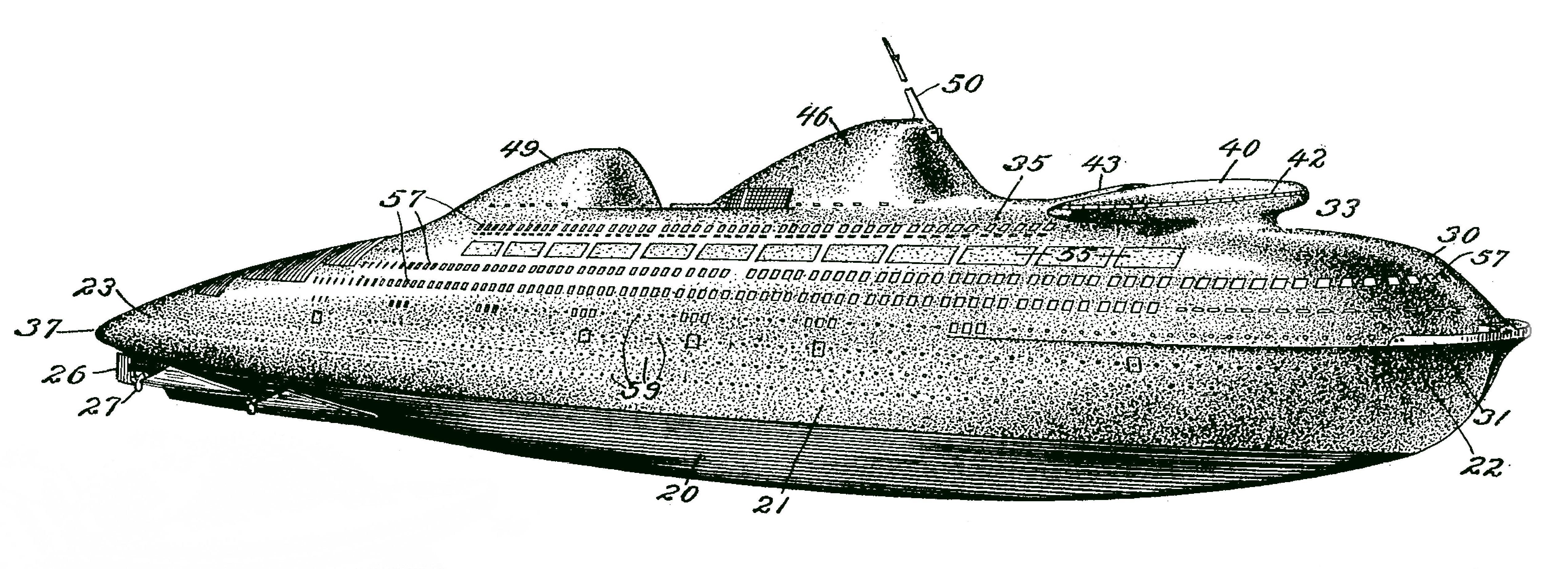 Norman Bel Geddes Ocean liner bateau plaisance