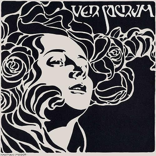 Illustration pour Ver Sacrum par Koloman Moser