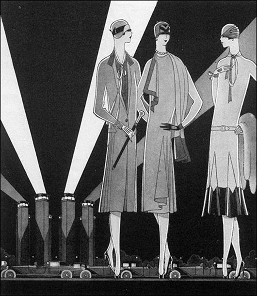 raymond loewy streamline, illustration pour le magazine vogue