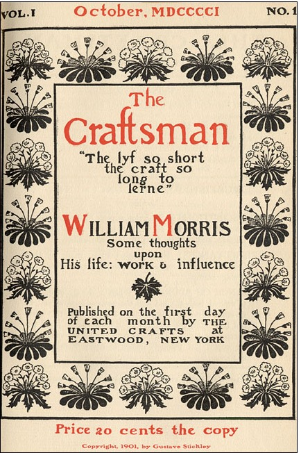 The craftsman magazine, édition numéro 1 par gustave stickley