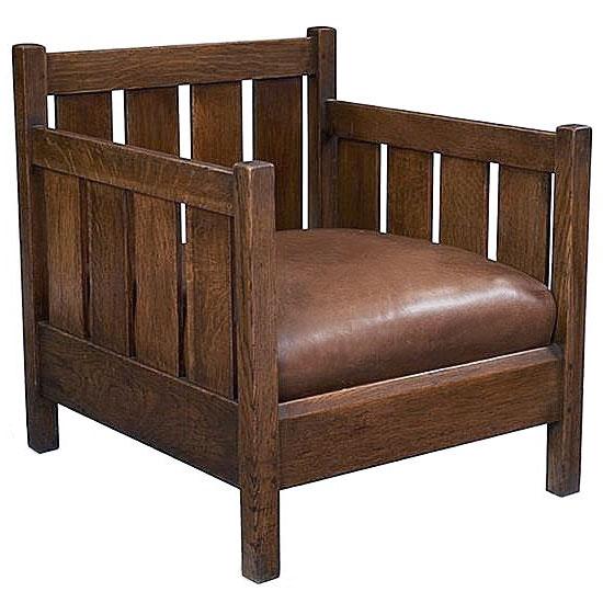 chaise cube gustav stickley