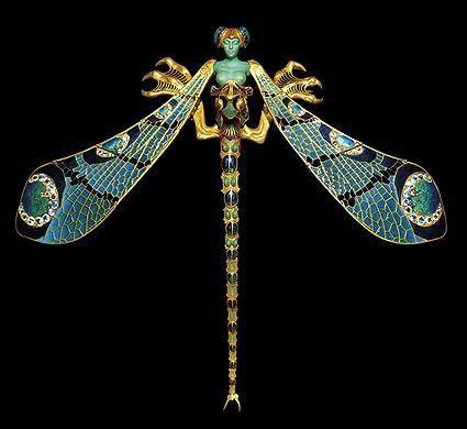 rené lalique bijoux libellule