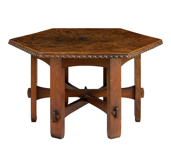 table gustav stickley arts and crafts furniture
