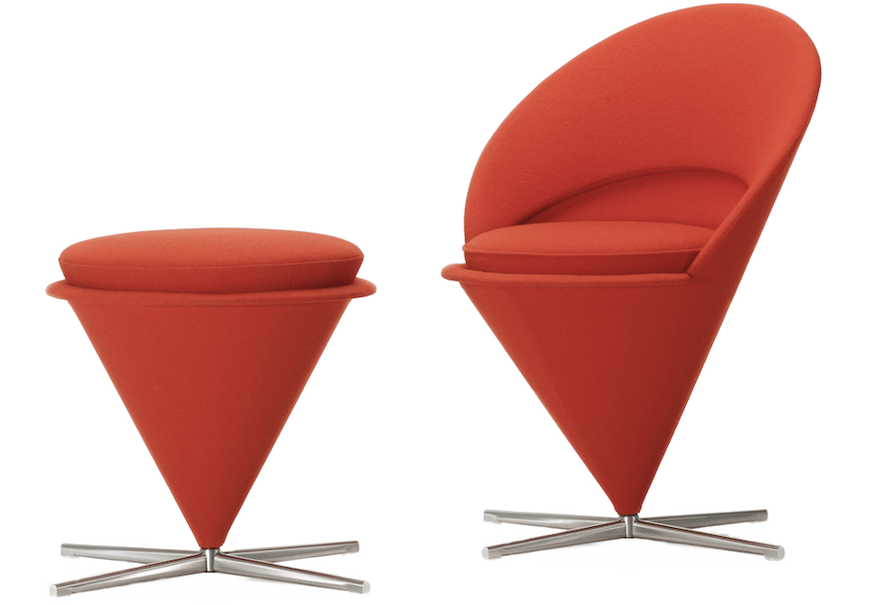 chaise cone rouge style pop art