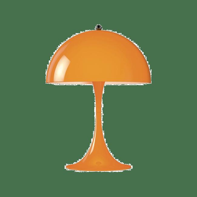 lampe vernon panthonella orange, du mouvement pop art