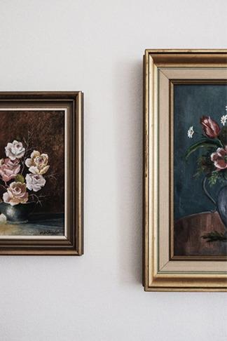 l'art décoratif au travers d'un cadre de tableau