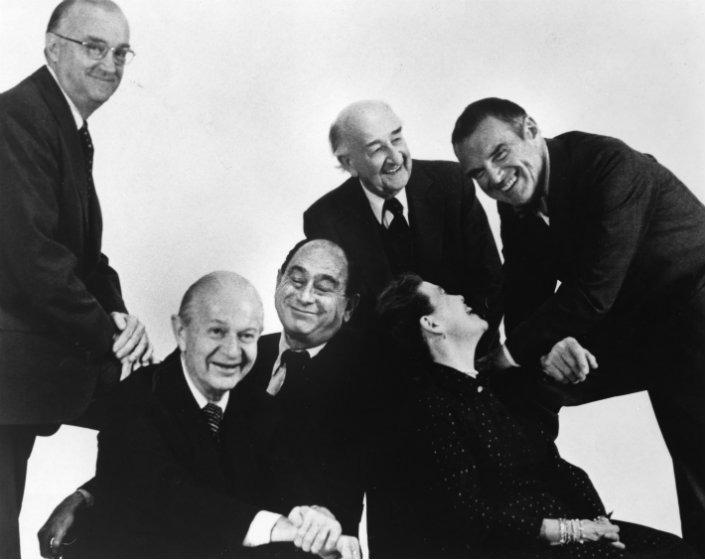 George Nelson avec ses amis et confrères dont Ray et Charles Eames