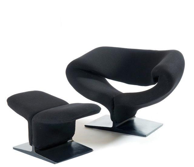la ribbon chair, fauteuil pop art par pierre paulin