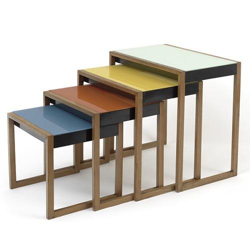 Les Bauhaus nesting tables de Josef Albers