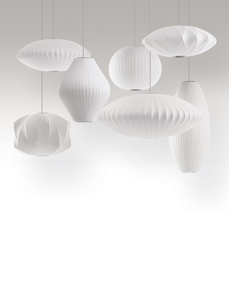 bubble lamps de George Nelson pour Herman Miller