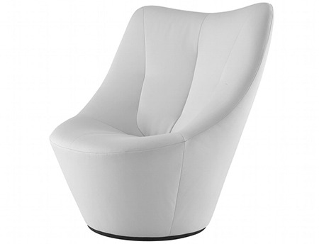 fauteuil anda en cuire blanc de pierre paulin
