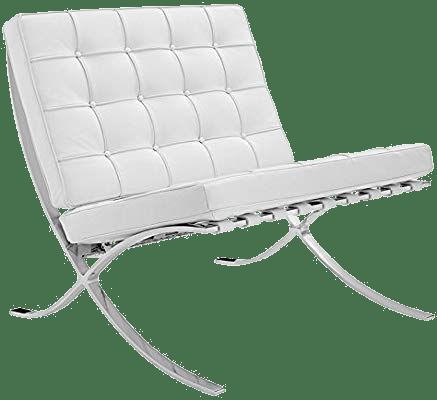 fauteuil barcelona en cuire blanc