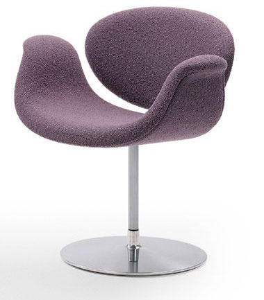 fauteuil little tulip violet parme de Pierre Paulin
