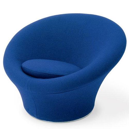 fauteuil Mushroom bleu du designer Pierre Paulin
