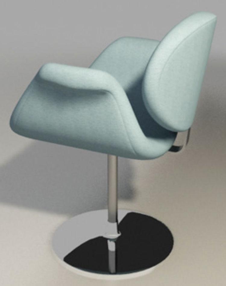 fauteuil tulipe bleu de Pierre Paulin