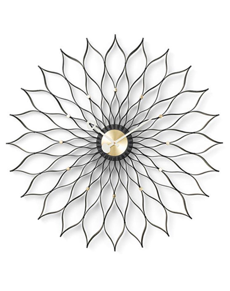 horloge sunflower couleur noir de George Nelson pour Vitra