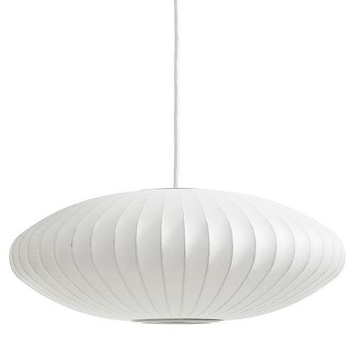 Lampe Nelson Bubble, une suspension blanche du designer George Nelson pour Herman Miller