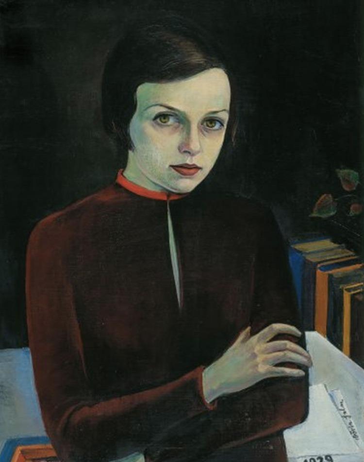 portrait en peinture de la designer bauhaus Dörte Helm