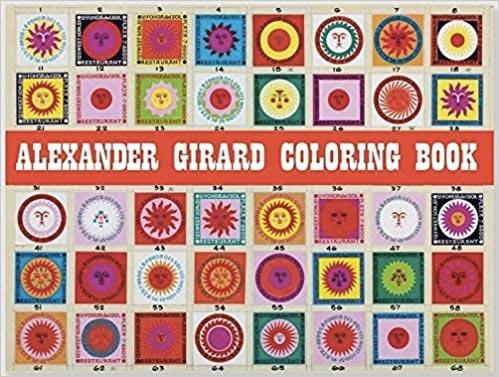 livre de coloriage design Alexander Girard Coloring Book