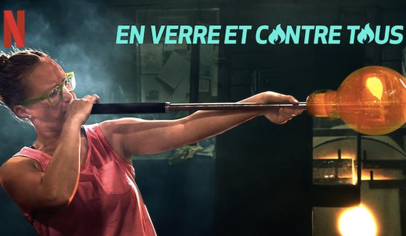 """série netflix sur l'artisanat : en verre et contre tous, en anglais """"blow away"""""""
