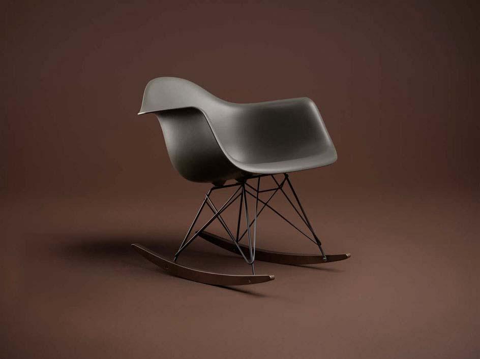 fauteuil RAR Eames noir pour Vitra