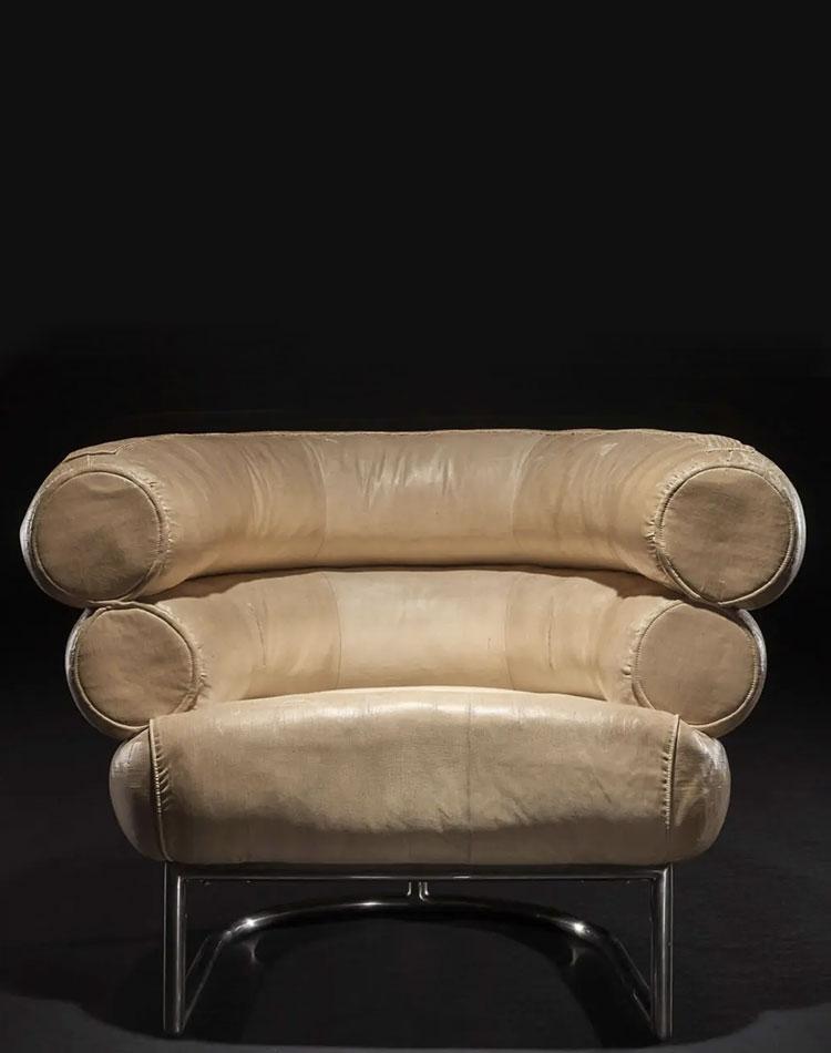 fauteuil bibendum vintage d'Eileen Gray