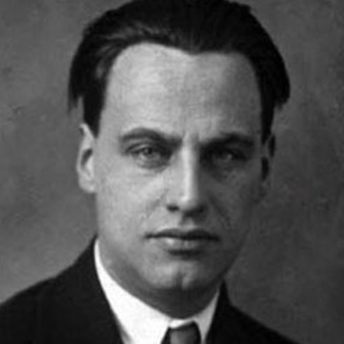 Portrait de Mart Stam, architecte et designer Hollandais du mouvement Moderne
