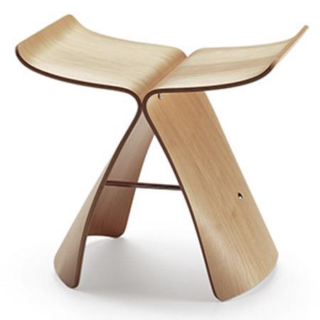 tabouret butterfly stool de Sori Yanagi