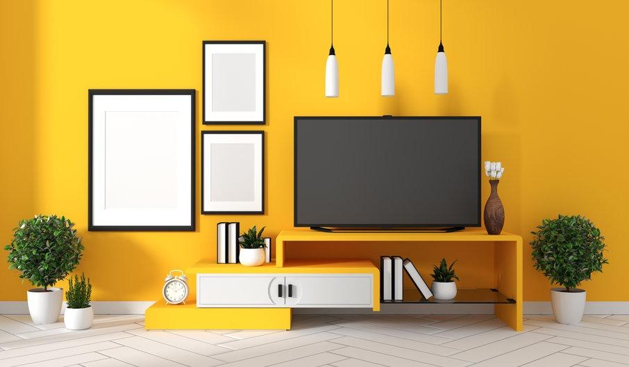meuble tv couleur pop